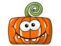 Funny pumpkin character isolated Royalty Free Stock Image