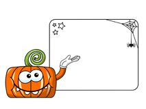 Funny pumpkin character isolated blank banner Stock Photos