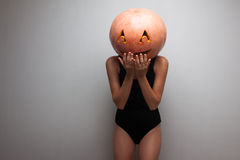 Funny pumpkin face Royalty Free Stock Photo