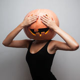 Funny pumpkin face Royalty Free Stock Images