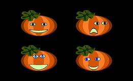 Funny pumpkin faces Royalty Free Stock Photo