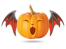 Funny pumpkin2. Halloween pumpkin with funny face on  white Royalty Free Stock Images