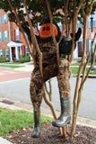 Funny pumpkin-head doll Royalty Free Stock Photos