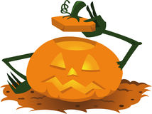 Funny Pumpkin Saying Hello Royalty Free Stock Image