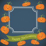 Funny pumpkin. To the holiday of Halloween Stock Photos