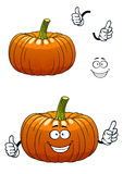 Funny pumpkin vegetable cartoon character Stock Photo