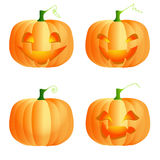 Funny pumpkins Royalty Free Stock Images