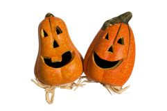 Funny pumpkins Stock Photography