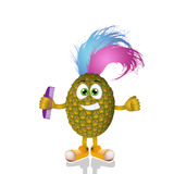 Funny punk pineapple Royalty Free Stock Photo