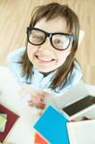 Funny pupil Stock Image