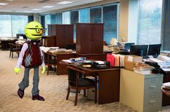 Funny Puppet Office Worker, Business Royalty Free Stock Photos