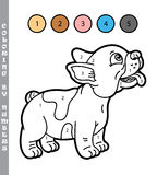 Funny puppy coloring game. Royalty Free Stock Image