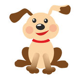 Funny puppy. On white background Royalty Free Stock Photography