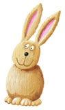 Funny rabbit. Acrylic illustration of funny rabbit Stock Images