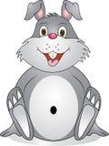 Funny rabbit cartoon. Illustration of funny rabbit cartoon Stock Images