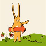 Funny rabbit illustration Royalty Free Stock Image