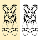 Funny rabbit silhouette drawing Royalty Free Stock Images