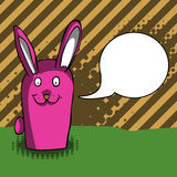 Funny rabbit with speech bubble Royalty Free Stock Photo