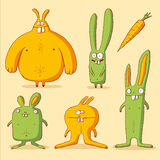 Funny rabbits Stock Images