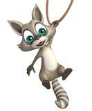 Funny Raccoon cartoon character Royalty Free Stock Photos