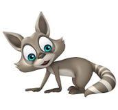 Funny Raccoon cartoon character Stock Photography