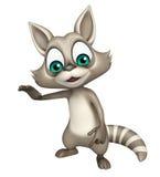 Funny Raccoon cartoon character Stock Image
