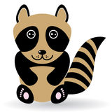 Funny raccoon on white background.  Royalty Free Stock Photo