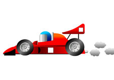 Funny race car Royalty Free Stock Image