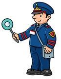 Funny railroader. Children  illustration Royalty Free Stock Photo