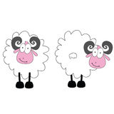 Funny ram animal with big eye vector Royalty Free Stock Photography