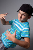 Funny rapp boy,7 years old Royalty Free Stock Photos