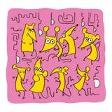 Funny Rat, seamless pattern Royalty Free Stock Photo