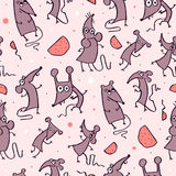 Funny Rat, seamless pattern Royalty Free Stock Photo