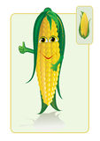 Funny and realistic corn vector illustration