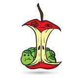 Funny red apple Royalty Free Stock Images