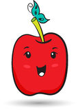 Funny red apple Stock Photos
