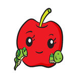 Funny red apple Royalty Free Stock Image