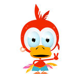 Funny Red Bird Illustration Stock Image