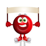 Funny red blood cell Stock Photo