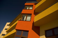 Funny red building Royalty Free Stock Images