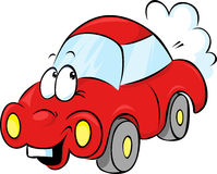 Funny red car cartoon Stock Photography