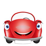 Funny red car Stock Photos