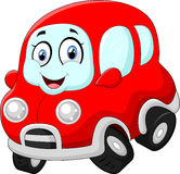 Funny red car Royalty Free Stock Image