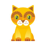 Funny red Cat on white background. Vector Royalty Free Stock Photos