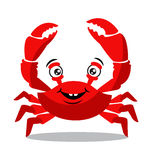Funny red crab cartoon for food flavor concept Stock Photos