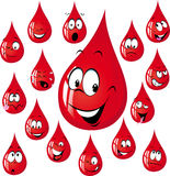 Funny red drop cartoon - vector illustration Royalty Free Stock Image