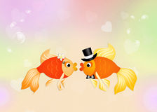 Funny red fishes Royalty Free Stock Photo