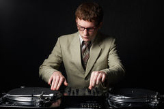 Funny red haired DJ Royalty Free Stock Photo