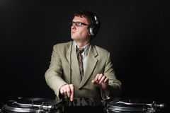 Funny red haired DJ Royalty Free Stock Photos