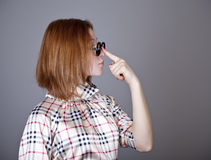 Funny red-haired girl. Royalty Free Stock Photography